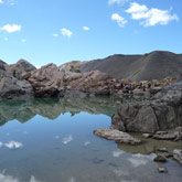 """Hikes up in the mountains and discover the wonderful lake of """"9 couleurs"""" in the Guillestre region"""