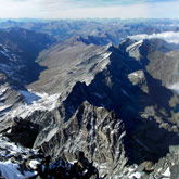 Breathtaking view on the Mont Viso in Queyras at the French-Italian border